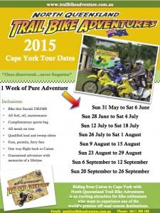 2015 Cape York dates